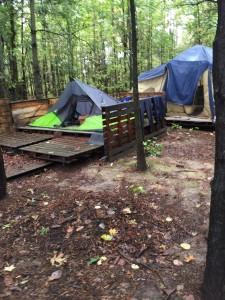 vacant tent